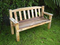 Macrocarpa bench with kwila seat