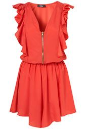 **Ruffle Zip Playsuit by Rare