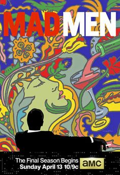 Milton Glaser's new logo poster for Mad Men...definitely a tribute to Peter Max.