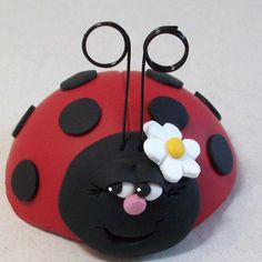 Ladybug Cake topper by Peggers on Etsy, $9.95