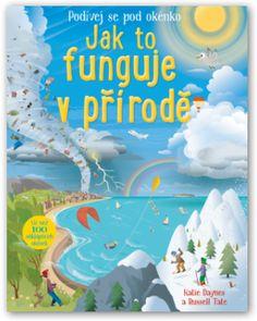 Encyklopedie, encyklopedie s otevíracími okénky, počasí, jak to funguje v přírodě, jak vzniká počasí, proudění vzduchu, bouřka, hurikán, kniha pro děti.