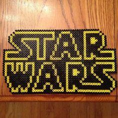 Star Wars logo perler beads by thatperlernerd