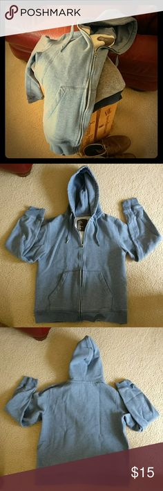 H&M Hooded Sweatshirt Terrific light blue hooded sweatshirt. Very sturdy piece that will get great use for a long time to come. Versatile light blue color. H&M Shirts Sweatshirts & Hoodies