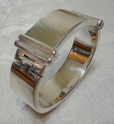 100% Authentic Ralph Lauren Rare1967Solid Sterling Silver Bracelet 140.1 Gr MINT…