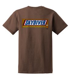 Snickers style skydive t shirt...