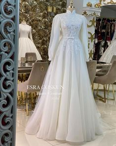 Modest Outfits Muslim, Wedding Hijab Styles, Beauty Inside, Dream Wedding Dresses, The Dress, Hijab Fashion, Party Dresses, One Shoulder Wedding Dress, Gowns