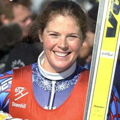 Picabo Street--US Skier--Gold medalist (Super G). Used Volkls as my first racers because she did.
