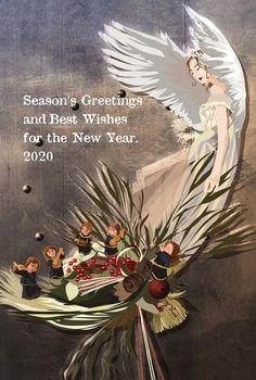 2020年版クリスマスカード Seasons, Painting, Design, Seasons Of The Year, Painting Art, Paintings, Painted Canvas, Drawings