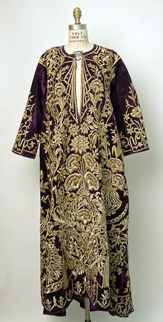 Mid-19th Century Robe Culture: Turkish Medium: cotton, metallic thread