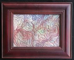 Fiber Art Quilt Framed Fabric Art Original by UniquelyJenCreations