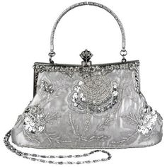 Silver Exquisite Antique Seed Beaded Rose Evening Handbag, Clasp Purse Clutch w/Hidden Handle and Chain MG Collection,http://www.amazon.com/dp/B004UIU6BQ/ref=cm_sw_r_pi_dp_BkAQqb1NKT1JPPXN