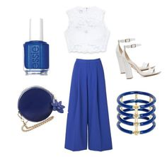 """""""Untitled #47"""" by amrabasic ❤ liked on Polyvore featuring 2NDDAY, Bebe, Schutz, Essie and Elizabeth and James"""