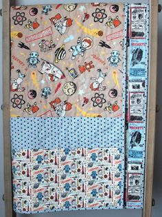 Rocket Age Baby Boy Quilt This quilt is completed and ready to ship to you (or to your someone special)! This modern baby boy quilt features an