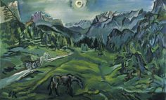 Oskar Kokoschka, Dolomitenlandschaft. This painting was banned by the Nazi regime and exhibited at the Degenerate art exhibition in Munich in 1937.