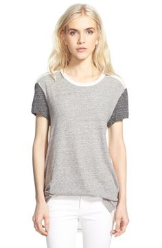 James Perse Colorblock Short Sleeve Tee