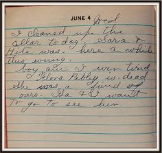 Vintage Johnstown: June 4, 1947: Diary of a Johnstown Housewife