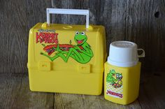 NEW UNUSED The Muppet/'s Kermit the Frog Collectible Metal Tin Tote Lunchbox