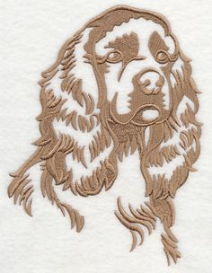 Cocker Spaniel Silhouette design (K9822) from www.Emblibrary.com