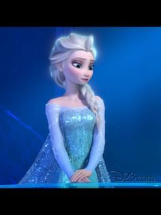 Elsa from Frozen!  Her dress is beautiful!! What a cute wedding dress it would make!