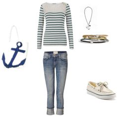 Nautical Look, created by lisa-1729 on Polyvore