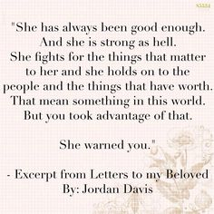 From the novel Letters to my Beloved by Jordan Davis
