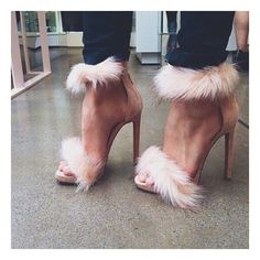 ♚queen glam♚  i would have loved these more if they had put fur around the abkle only TOO much on both straps