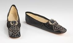 Slippers 1855, French, Made of leather  These are pretty cool!