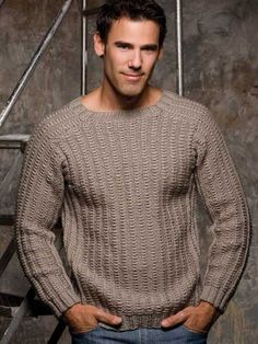 1000+ images about knitting patterns - mens on Pinterest Men sweater, Free ...