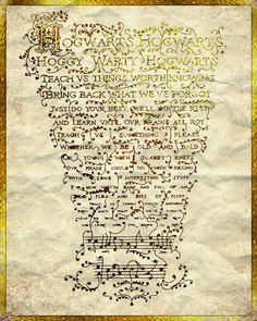 Photo of hogwarts song for fans of Harry Potter 18878998 Harry Potter Ron, Draco Malfoy, Hermione, Hogwarts, Slytherin, School Songs, No Muggles, Yer A Wizard Harry, Albus Dumbledore