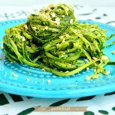 makaron z cukinią Gluten Free Recipes, Healthy Recipes, Vegan Cafe, Food Swap, Pasta, Seaweed Salad, Food And Drink, Healthy Eating, Cooking Recipes