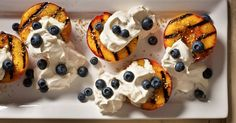 Dukkah It's an Egyptian blend of nuts, seeds and spices If you can find some, combining it with a grilled ripe peach is a superlative summer experience, especially with freshly whipped cream and a scattering of blueberries