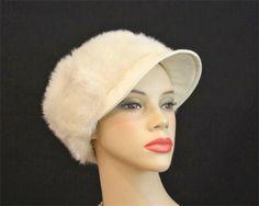 Carnaby Street 60s Mod Faux Fur Hat  Twiggy Jean by DallasVintage, $24.99
