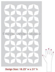 Moroccan Stencils | Moroccan Inlay Stencil | Royal Design Studio