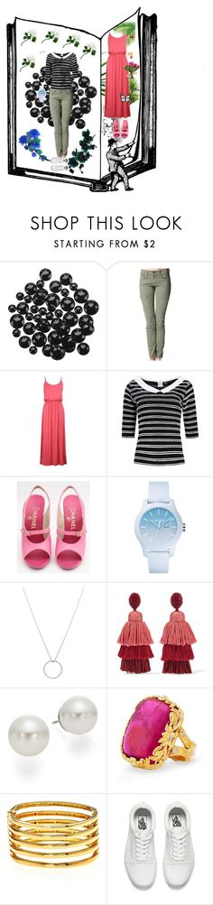 """Summer themed"" by colicarnel ❤ liked on Polyvore featuring Élitis, Lacoste, Roberto Coin, Oscar de la Renta, AK Anne Klein, Kenneth Jay Lane and Vans"