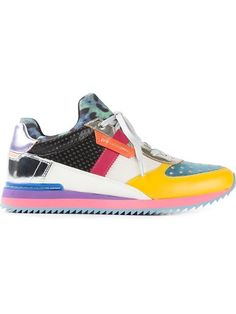 Dolce & Gabbana Metallic Colour Block Sneakers - A.m.r. - Farfetch.com