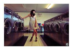laundromat photo shoot