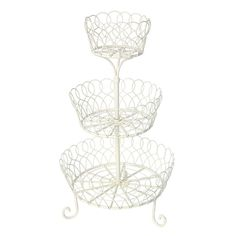 A CHEAP PRETTY THING FOR YOUR DRESSING TABLE!OK, so it's a cake stand (a very lovely cake stand) but can't you just see it filled with bathroom beauties/nail polishes and the like?  It measures 43cm tall and contains three generously proportioned-yet-space saving baskets.  If I'm honest, the styling totally doesn't fit with my decor even though I'm hugely tempted to get it as a fruit bowl.And the best bit?  It's currently only £8.95 (reduced from £23.95!) in the sale at DotComGiftShop.