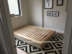 ikea mandal storage bed assembled in new york city by Furniture Assembly Experts LLC