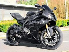 BMW S1000RR with carbon fiber fairings.