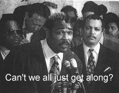 In the words of Rodney King: Why can't we all just get along? Psalm 110, Rodney King, Wise Men Say, King Quotes, Give Peace A Chance, Democratic Socialist, Entertainment Tonight, Special Quotes, Know The Truth