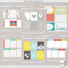 Journal Cards - Bundle (vol.4) by Dunia Designs
