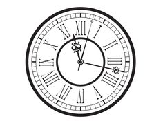 free printable vintage pocket watch clock face | Old Clock Drawing Vintage-old-clock