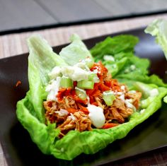 Slow Cooker Buffalo Chicken Lettuce Wraps | 31 Glorious Game Day Snacks You Need…