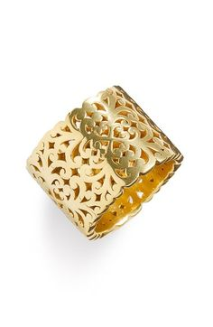Lois Hill 'Two Tone Organic Geo' Cigar Band Ring (Nordstrom Exclusive) available at #Nordstrom