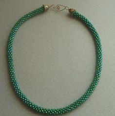 Kumihimo Bead Braided Rope Necklace by FranksStudio on Etsy, $30.00