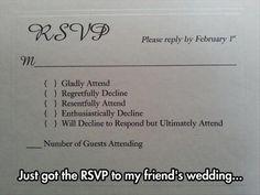 Trendy Wedding Vows That Make You Cry Hilarious Cute Ideas 64 Ideas Wedding Day Meme, Wedding Rsvp, Wedding Humor, Friend Wedding, Wedding Ideas, Wedding Stuff, Wedding Inspiration, Dream Wedding, Wedding Planning