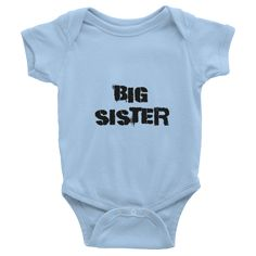 Big Sister Kids Tees Infant short sleeve one-piece