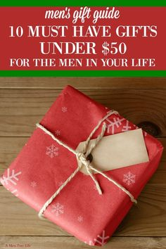 This collection of holiday gifts for him contains something for all the men in your life. Whether you are shopping for your husband, boyfriend, or any other man in your life, you're sure to find something he will love in this gift guide for men. This Chri Christmas Presents For Men, Christmas Ideas For Boyfriend, Christmas On A Budget, Best Christmas Gifts, Holiday Gifts, Christmas Gifts For Husband, Xmas Ideas, Christmas Stuff, Christmas Crafts