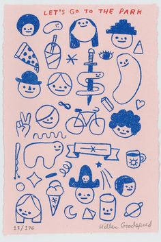 Drawing Doodles Sketches This is a brand new risograph print of one of my drawings that was printed and m Street Art Graffiti, Images Esthétiques, Poster S, Cute Art, Art Inspo, My Drawings, Illustrators, Illustration Art, Character Design