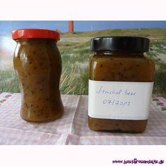 Stachelbeermarmelade mit Zimt und Vanille unser Rezept für Stachelbeermarmelade mit Zimt und Vanille vegetarisch vegan laktosefrei glutenfrei